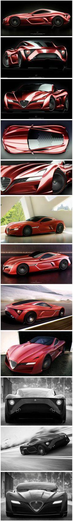 Alfa Romeo C12 GTS concept by Ugur Sahin