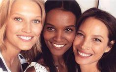 Schön wie ein Topmodel – auch ohne Make-up: Diese zehn Tipps machen's möglich Brown Skin Girls, Make Beauty, Christy Turlington, Flawless Face, Interesting Faces, Toni Garrn, Make Up Looks, Concealer, Eyeliner