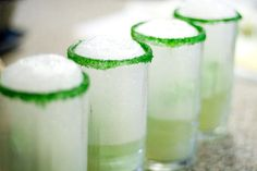 Leprechaun Ale – It is Magically Delicious... Lime Sherbet, Ginger Ale, Green Sugar & Lime