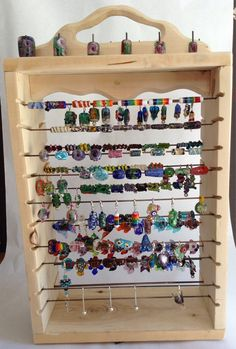 Display rack for beads pendants and jewelry by glassmoosedecor, $45.00