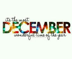 December the most wonderful time of the year