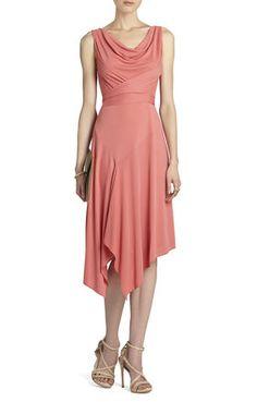 Ezra Boatneck Asymmetrical Dress | BCBG