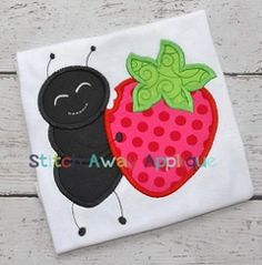 Strawberry Ant Applique - 4 Sizes! | What's New | Machine Embroidery Designs | SWAKembroidery.com Stitch Away Applique