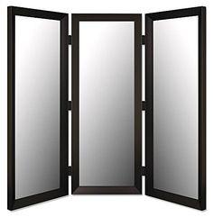 Floor Mirror in Black Finish