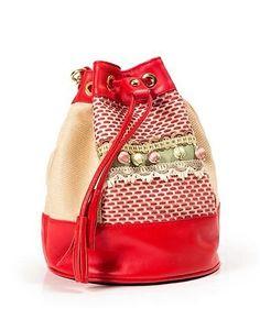 Buboisé Gipsy Secchiello - Bucket bag   #bucketbag #secchiello #borsa #bag #handmade #handcrafted #madeinitaly #fashion #luxury #summer #red #artigianale