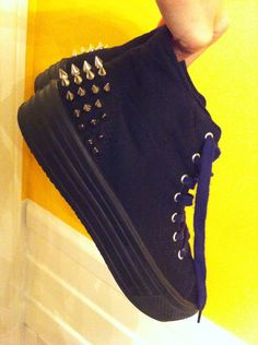 Black Platform Converse with Studs  on Etsy, $45.00 by lanchens designs