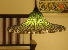 """Hanging Lotus Lamp"" by Louis Comfort Tiffany. 1905.:"