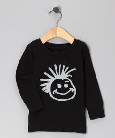 Take a look at this Black Logo Thermal Tee - Toddler & Boys by Knuckleheads on #zulily today!