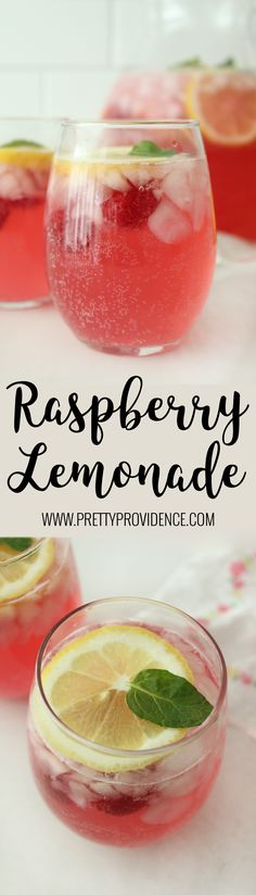 I love this raspberry lemonade! So easy and so good! Perfect party drink, or to cool down on a hot day!
