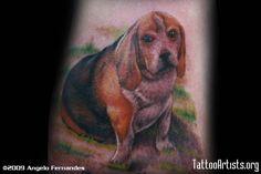 Fat beagle tattoo.