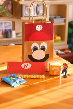 Mario Birthday Party gift bag