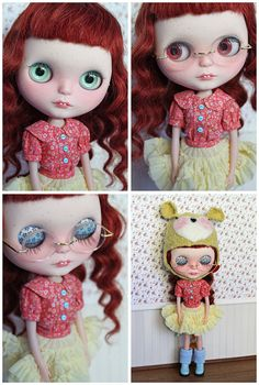 Ooak custom Blythe doll 'Rita Mouse' by Mapuca on Etsy