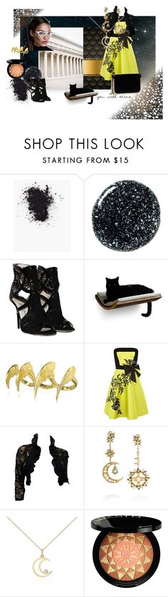 """luna"" by verisimilitude9 ❤ liked on Polyvore featuring Jimmy Choo, HUGO, Bjørg, Karen Millen, Diego Percossi Papi, Blue Nile, Guerlain and GUESS by Marciano"