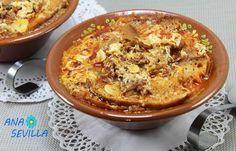 Sopa castellana Thermomix Sin Gluten, Paella, Hummus, A Food, Macaroni And Cheese, Soup, Breakfast, Ethnic Recipes, Color