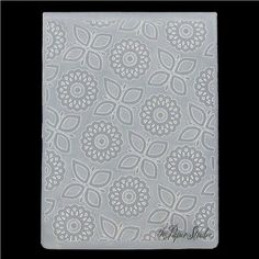 the Paper Studio A2 Geometric Flowers Embossing Folder | Shop Hobby Lobby