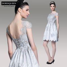 Open back, after prom dresses, homecoming dresses, short dresses, lace evening dresses, afforable dresses