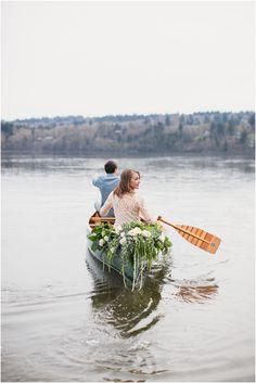 rowing away