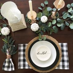 fall decor ideas for the home Buffalo Check: Black & White Year-Round Home Decor Ideas. Fall, Christmas and year-round decor inspirations. Achieve a timeless farmhouse interi