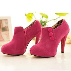 Fashion Stiletto Heel Suede Ankle Boots Party&Evening Women's Shoes (More Colors) - USD $ 29.99