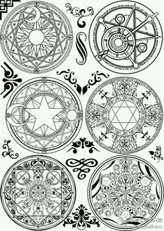 Alchemy, Wiccan, Witchcraft, Pentacle, Magic Symbols, Magic Circle, Book Of Shadows, Sacred Geometry, Dark Art