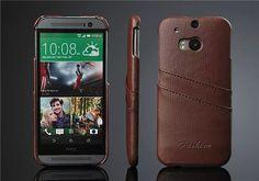 HTC One M8 Lederhülle im Litchi-Streifen - spitzekarte.com