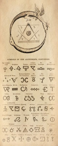 Alchemy: Symbols of the Alchemist. Ouroboros = eternity. ~ETS