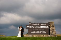 On top of the Shenandoah sits a large open expanse of land called Big Meadows and it's the perfect place for a mountain wedding next to the clouds! Shenandoah National Park, Couple Photography, Perfect Place, Shower Ideas, Destination Wedding, How To Memorize Things, National Parks, Mountain, Skyline