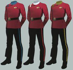 Click this image to show the full-size version. Star Trek Games, Star Trek Data, New Star Trek, Star Wars, Star Trek Uniforms, Marching Band Uniforms, Star Trek Online, Rear Admiral, Look Older