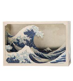 Tatebanko Paper Diorama Kit (Hokusai) large image