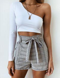 City Girl Short - Grey Check