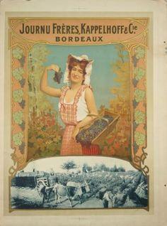 Affiche Ancienne Originale Journu frères, Kappelhoff & Cie Bordeaux Par Anonyme - 14331678321912.jpg