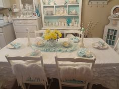 Shabby Chic Tablescapes | Not So Shabby - Shabby Chic: Tablescape of my Easter basket contents