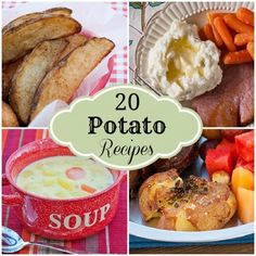 20 Potato Recipes | realmomkitchen.com Potatoes are always so cheap (we're talking a dollar for 5 lbs.) This will come in handy.