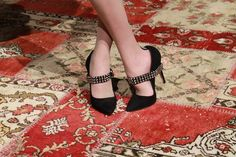 love these heels from alice + olivia fall {black points with studded harness}