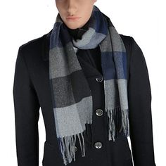 151c3b258120f Cashmere-Feel Acrylic Winter Scarf For Men And Women In 8 Plaid Prints By  Debra