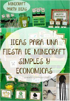 #minecraftparty #cumpleaños #minecraft #cumpleañosminecraft #partyideas #ideassimples #niños #fiestaminecraft
