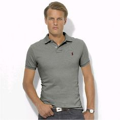 Polo Men Ralph Lauren Stickup Custom-Fit Mesh Grey Wine http://www