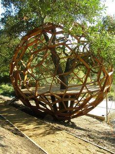 A Geodesic Tree House.wow now this is a tree house Landscape Architecture, Landscape Design, House Architecture, Drawing Architecture, Architecture Portfolio, Jardin Decor, Deco Nature, Permaculture Design, Gazebo