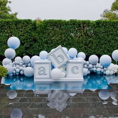 5 clever ideas to prepare the nursery. Baby Shower Decorations For Boys, Boy Baby Shower Themes, Baby Shower Balloons, Baby Shower Gender Reveal, Baby Shower Games, Baby Boy Shower, Shower Party, Baby Shower Parties, Fotos Baby Shower