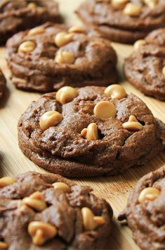 """Peanut Butter Chip Chocolate Cookies   """"I've been looking for a good chocolate cookie base recipe and finally found it with this! """" #cookies #cookierecipes #bakingrecipes #dessertrecipes #cookieideas"""