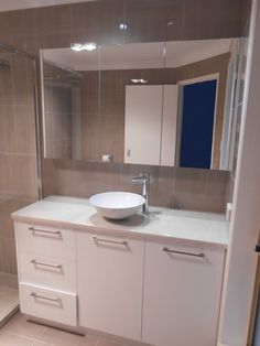 Notice the built in shaving cabinet, this was custom made to suit the length of the vanity Shaving Cabinet, Brisbane, Bliss, Vanity, Suit, Shower, Mirror, Bathroom, Furniture