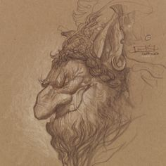 The Forest Troll Part III: Troll Studies  by Justin Gerard  quickhidehere.blogspot.com: Sketches