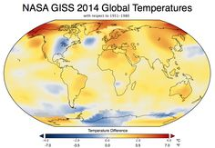 Our warmest year on record analysis come from scientists @NASAGISS in NY. #FF http://go.nasa.gov/1znmxe5   #EarthRightNow