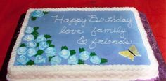 This was my first cake done using fondant; the whole...