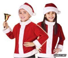 Fun World Kids Boys Girls Santa Claus Christmas Costume Jacket   Hat - PinBuy