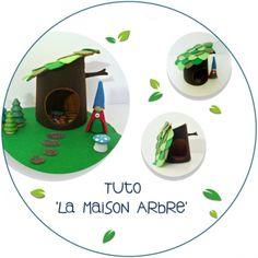 DIY Tutoriel pdf - La maison Arbre en feutrine pour les gnomes et les petites fées !
