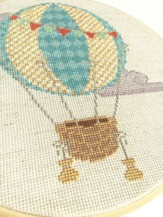 PATTERN Modern Cross Stitch Pattern  Vintage Hot por pinprickery
