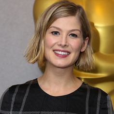 """""""Rosamund Pike perfectly taps into Gillian Flynn's complex character from the novel """"Gone Girl"""" bringing to life the privileged, manipulative and calculating Amy Dunne. It's hard to imagine anyone else in the role,"""" said Film Festival Chairman Harold Matzner. """"For this outstanding performance it is an honor to present her with the 2015 Breakthrough Performance Award, Actress."""""""