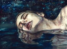 "rexisky: ""DREAM (Acrylic and Watercolor on Paper) by Lesya Poplavskaya """