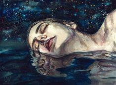 "rexisky: ""DREAM (Acrylic and Watercolor on Paper) by Lesya Poplavskaya """